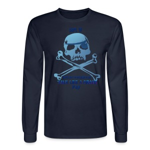 Talk Like A Pirate Skull And Crossbones - Men's Long Sleeve T-Shirt