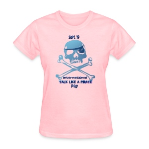 Talk Like A Pirate Skull And Crossbones - Women's T-Shirt