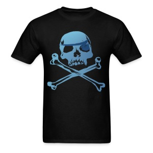 Blue Pirate Skull And Crossbones - Men's T-Shirt