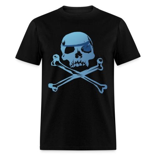 Blue Pirate Skull And Crossbones - Men's T-Shirt