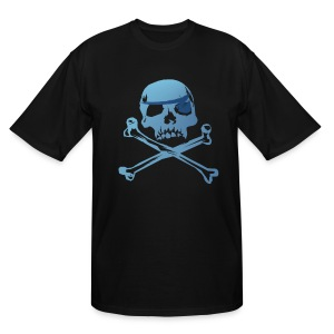 Blue Pirate Skull And Crossbones - Men's Tall T-Shirt