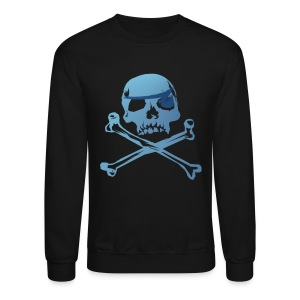 Blue Pirate Skull And Crossbones - Crewneck Sweatshirt