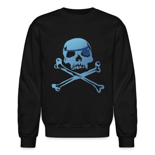 Blue Pirate Skull And Crossbones - Crewneck Sweatshirt