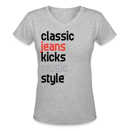 ShortPeopleGotSwaggToo womens V-neck - Women's V-Neck T-Shirt