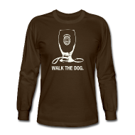 Long Sleeve Shirts ~ Men's Long Sleeve T-Shirt ~ Newcastle Long Sleeve: Walk the Dog