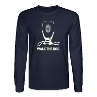 Newcastle Long Sleeve: Walk the Dog - Men's Long Sleeve T-Shirt