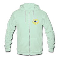 Zip Hoodies & Jackets ~ Unisex Fleece Zip Hoodie by American Apparel ~ Newcastle Hoodie: Circle Logo