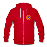 Newcastle Hoodie: Circle Logo - Unisex Fleece Zip Hoodie by American Apparel