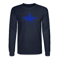 Long Sleeve Shirts ~ Men's Long Sleeve T-Shirt ~ Newcastle Long Sleeve: Star