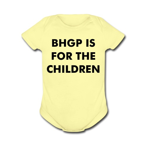 BHGP IS FOR THE CHILDREN - Gold - Short Sleeve Baby Bodysuit