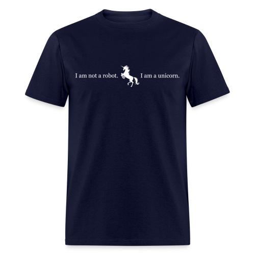 unicorn_3_final_white - Men's T-Shirt