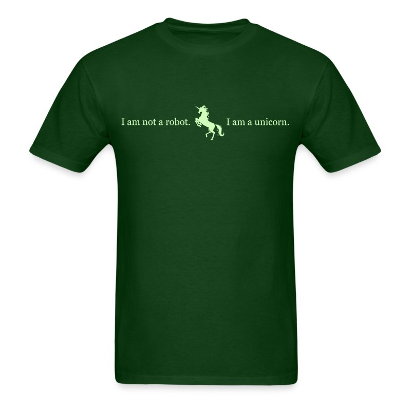 unicorn_3_final_light_green - Men's T-Shirt
