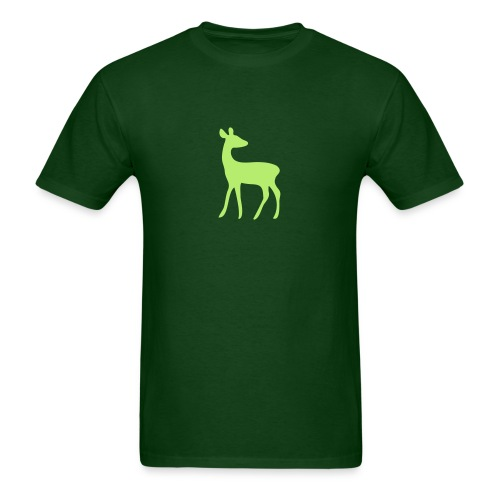 t-shirt deer fawn elk moose stag game wild animal timid bambi forest - Men's T-Shirt