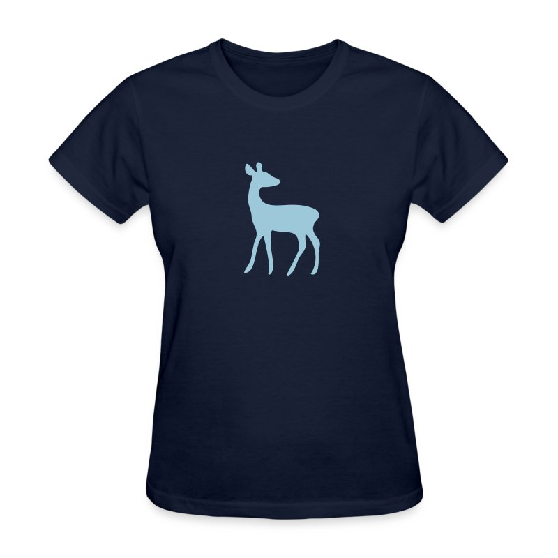 t-shirt deer fawn elk moose stag game wild animal timid bambi forest - Women's T-Shirt