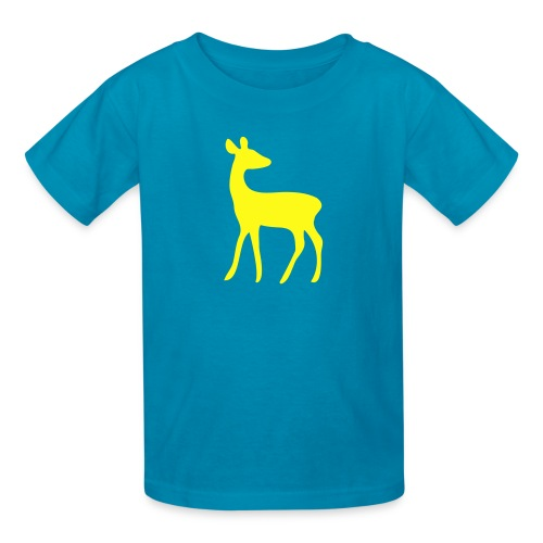 t-shirt deer fawn elk moose stag game wild animal timid bambi forest - Kids' T-Shirt
