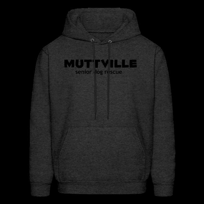 Men's White Muttville Hoodie