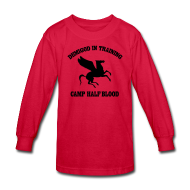 Kids' Shirts ~ Kids' Long Sleeve T-Shirt ~ CAMP Pegasus Half-Blood Long Sleeve Kids T-Shirt