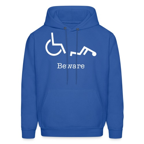 wheelchair mishap  - Men's Hoodie