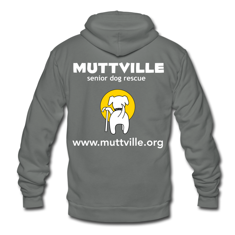 Unisex Muttville zipper hoodie - Unisex Fleece Zip Hoodie by American Apparel