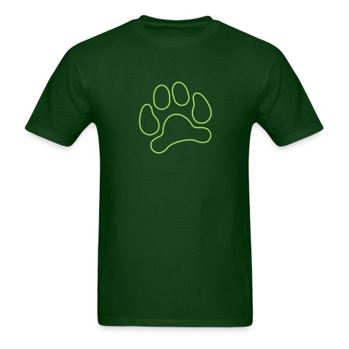t-shirt lynx cat cougar paw cheetah animal track hunt hunter hunting - Men's T-Shirt