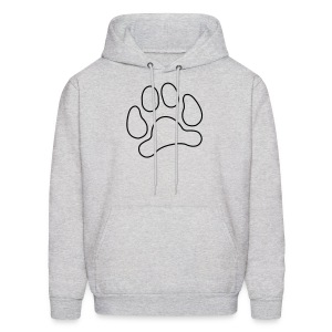 t-shirt lynx cat cougar paw cheetah animal track hunt hunter hunting - Men's Hoodie