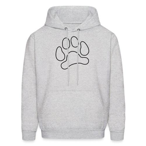 t-shirt lynx cat cougar paw cheetah animal track hunt hunter hunting - Men's Hoodie