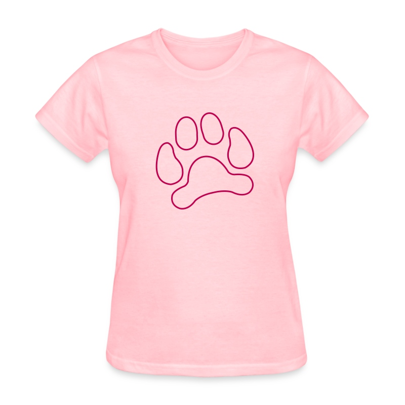 t-shirt lynx cat cougar paw cheetah animal track hunt hunter hunting - Women's T-Shirt