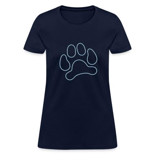 t-shirt lynx cat cougar paw cheetah animal track hunt hunter hunting - Women's T-Shirt