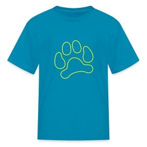 t-shirt lynx cat cougar paw cheetah animal track hunt hunter hunting - Kids' T-Shirt