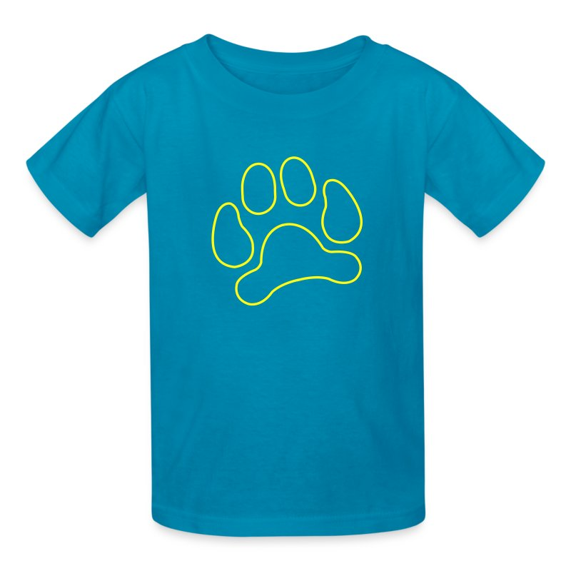 t-shirt lynx cat cougar paw cheetah animal track hunt hunter hunting - Kids' T-Shirt