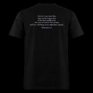 T-Shirts ~ Men's T-Shirt ~ scripture (front & back)