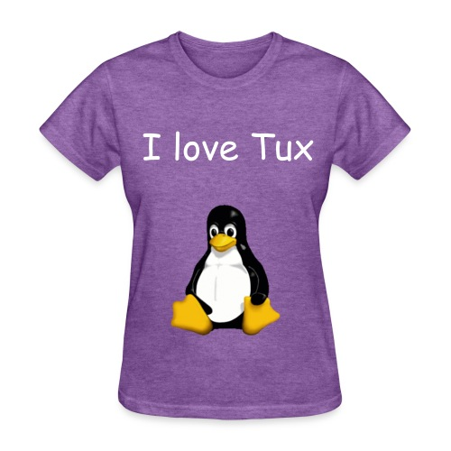 I love Tux - Women's T-Shirt