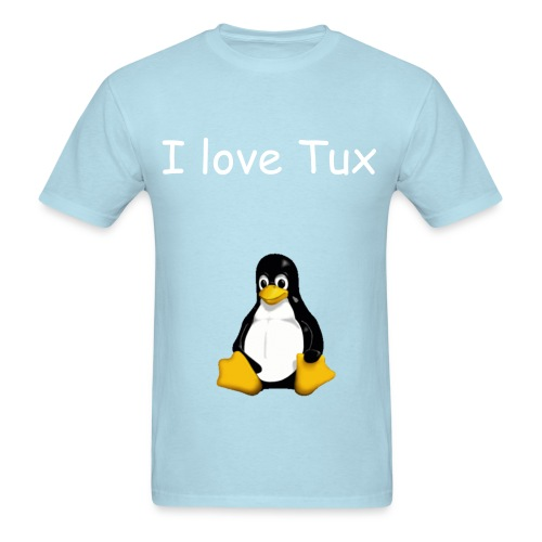 I love Tux - Men's T-Shirt