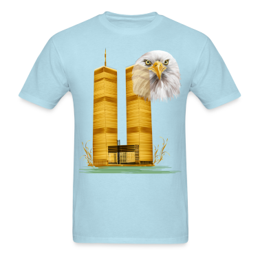 Twin Towers in Gold and Eagle