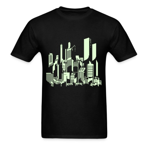 Cityscape #47 Glow - Men's T-Shirt