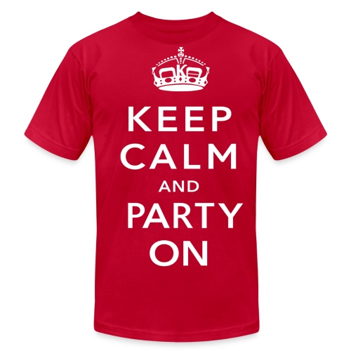 Party On! (American Apparel) - Men's Fine Jersey T-Shirt