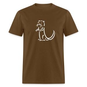 t-shirt otter beaver sea otter fish lake fishing river animal t-shirt - Men's T-Shirt
