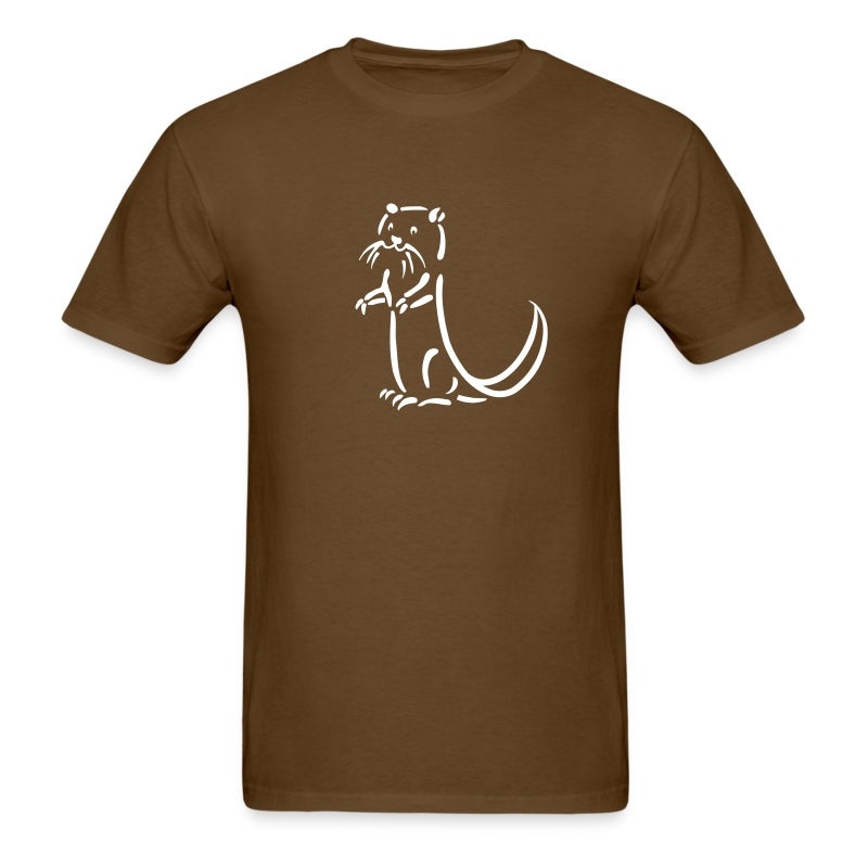 t-shirt otter beaver sea otter fish lake fishing river animal t-shirt - Men's T-Shirt