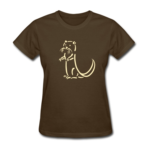 t-shirt otter beaver sea otter fish lake fishing river animal t-shirt - Women's T-Shirt