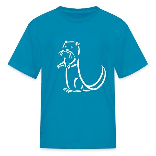 t-shirt otter beaver sea otter fish lake fishing river animal t-shirt - Kids' T-Shirt