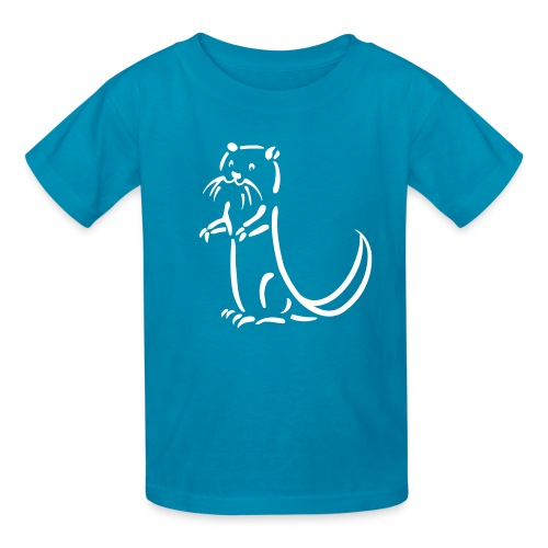 t-shirt otter beaver sea otter fish lake fishing river animal t-shirt - Kids' T-Shirt