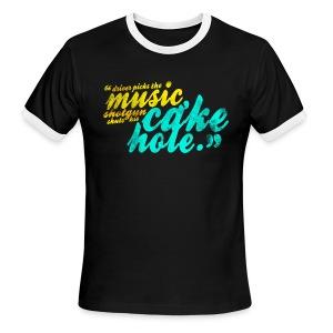 Shotgun Shuts His Cakehole (DESIGN BY MICHELLE) - Men's Ringer T-Shirt
