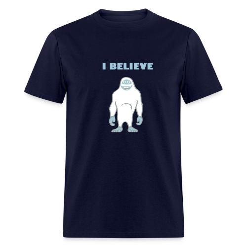 Yeti shirt: I believe - Men's T-Shirt