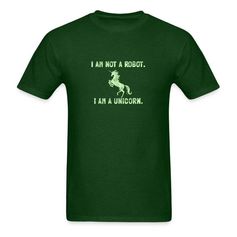 unicorn_tall_light_green - Men's T-Shirt