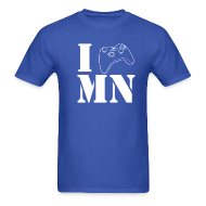 T-Shirts ~ Men's T-Shirt ~ *CUSTOMIZABLE* I Game [Insert Your State Here] Men's T-Shirt White Text