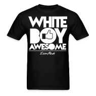T-Shirts ~ Men's T-Shirt ~ White Boy Awesome Black Tee