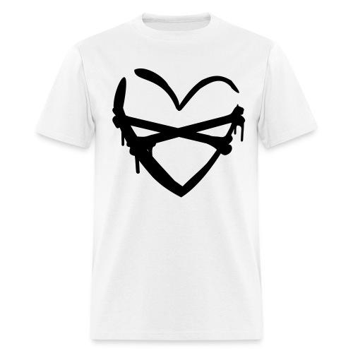 Crossed Heart - Men's T-Shirt