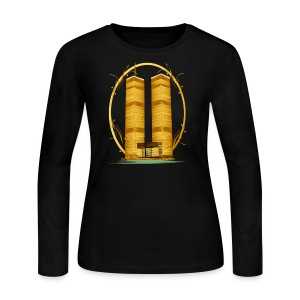 Twin Towers in Gold - Women's Long Sleeve Jersey T-Shirt