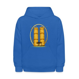 Twin Towers in Gold - Kids' Hoodie
