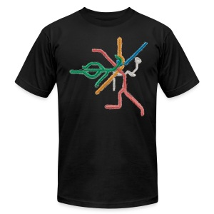 T Lines - Men's T-Shirt by American Apparel